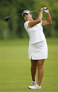 ROCHESTER, NY - JUNE 22: Inbee Park of South Korea hits her second shot on the fourth hole during the final round of the Wegmans LPGA at Locust Hill Country Club June 22, 2008 in Rochester, New York. (Photo by Hunter Martin/Getty Images)