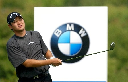 Eddie Lee from New Zealand tees off on the 4th during 2005 BMW Asian Open at Tomson Golf Club in Shanghai, China on April 29, 2005Photo by Jeff Crow/WireImage.com