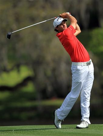 ORLANDO, FL - MARCH 24:  Sam Saunders of the USA drives from the 16th tee during the first round of the 2011 Arnold Palmer Invitational presented by Mastercard at the Bay Hill Lodge and Country Club on March 24, 2011 in Orlando, Florida.  (Photo by David Cannon/Getty Images)