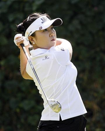 GUADALAJARA, MEXICO - NOVEMBER 14: Jeong Jang of South Korea hits her tee shot on the 11th hole during the second round of the Lorena Ochoa Invitational at Guadalajara Country Club on November 14, 2008 in Guadalajara, Mexico. (Photo by Hunter Martin/Getty Images)