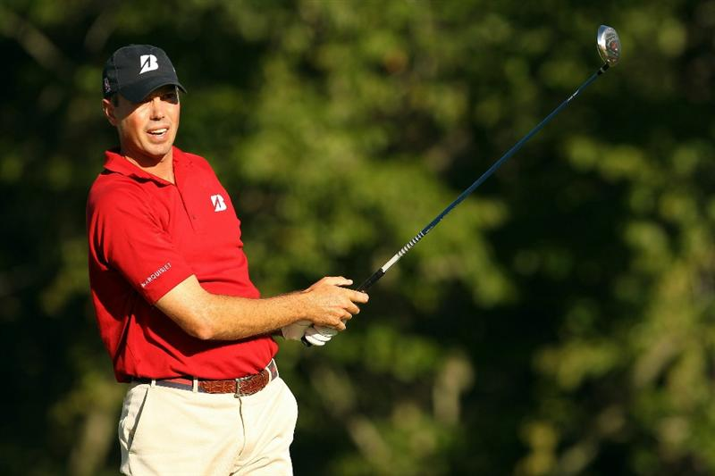 NORTON, MA - SEPTEMBER 05:  Matt Kuchar tees off on the 17th hole during the third round of the Deutsche Bank Championship at TPC Boston on September 5, 2010 in Norton, Massachusetts.  (Photo by Mike Ehrmann/Getty Images)