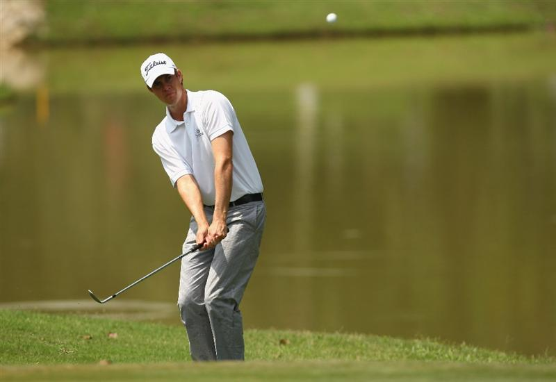 KUALA LUMPUR, MALAYSIA - FEBRUARY 14:  Adam Blyth of Australia in action during the 3rd round of the 2009 Maybank Malaysian Open at Saujana Golf and Country Club on February 14, 2009 in Kuala Lumpur, Malaysia.  (Photo by Ian Walton/Getty Images)