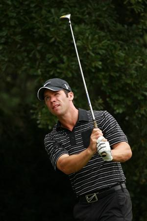 ATLANTA - SEPTEMBER 26:  Paul Casey of England watches his tee shot on the second hole during the final round of THE TOUR Championship presented by Coca-Cola at East Lake Golf Club on September 26, 2010 in Atlanta, Georgia.  (Photo by Scott Halleran/Getty Images)