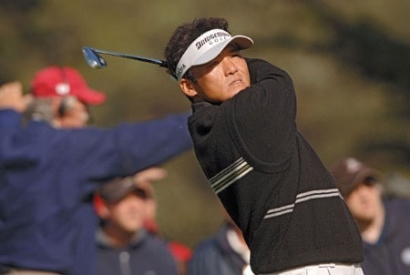 Shigeki Maruyama during the third round of The World Golf Championships 2005 American Express Championship at Harding Park Golf Club in San Francisco, California on October 8, 2005.Photo by Steve Grayson/WireImage.com