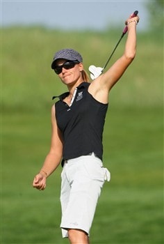 MUNICH, GERMANY - MAY 30:  Paula Marti of Spain reacts to a putt on the eighth hole during the second round of the Hypo Vereinsbank Ladies German Open Golf at Golfpark Gut Hausern on May 30, 2008 near Munich, Germany.  (Photo by Stuart Franklin/Bongarts/Getty Images)