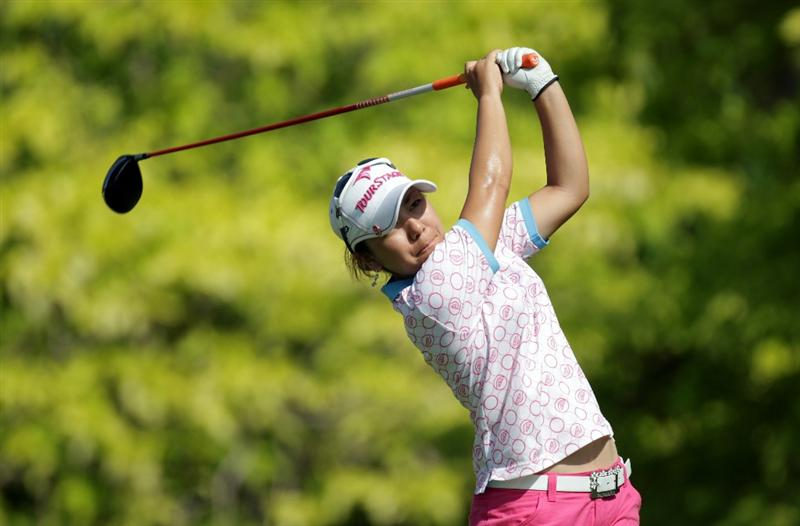 SINGAPORE - FEBRUARY 25:  Mika Miyazato of Japan during the second round of the HSBC Women's Champions at Tanah Merah Country Club  on February 25, 2011 in Singapore, Singapore.  (Photo by Ross Kinnaird/Getty Images)