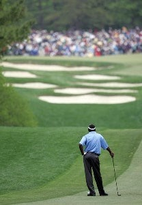 Vijay Singh waits to make his shot from the fifth fairway during the third round of the Wachovia Championship at Quail Hollow in Charlotte, N.C. Saturday, April 5, 2007. PGA TOUR - 2007 Wachovia Championship - Third RoundPhoto by Richard Schultz/WireImage.com