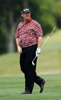 Steve Lowery hits from the 16th fairway during the second round of the EDS Byron Nelson Classic at the TPC Los Colinas in Los Colinas, Texas May 13, 2005.Photo by Steve Grayson/WireImage.com