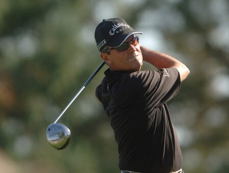 Mark McNulty hits from the 10th tee during the final round of the 2005 Charles Schwab Cup Championship at Sonoma Golf Club in Sonoma, California October 30, 2005.Photo by Steve Grayson/WireImage.com