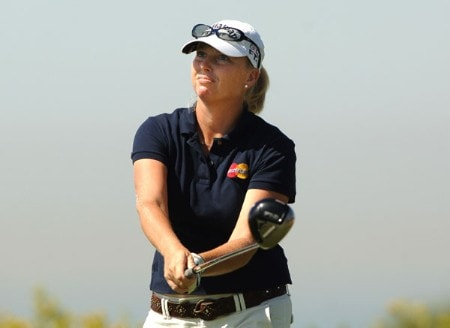 Jill McGill in action during the first round of the 2005 Office Depot Championship at Trump National Golf Club Los Angeles in Rancho Palos Verdes, California September 30, 2005.