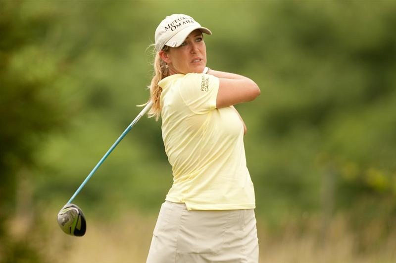 SPRINGFIELD, IL - JUNE 12: Cristie Kerr follows through on a tee shot during the third round of the LPGA State Farm Classic at Panther Creek Country Club on June 12, 2010 in Springfield, Illinois. (Photo by Darren Carroll/Getty Images)