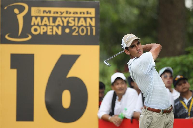 KUALA LUMPUR, MALAYSIA - APRIL 17:  Refael Cabrera-Bello of Spain in action during 4th round of the Maybank Malaysian Open at Kuala Lumpur Golf & Country Club on April 17, 2011 in Kuala Lumpur, Malaysia.  (Photo by Ian Walton/Getty Images)