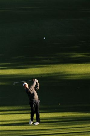 AUGUSTA, GA - APRIL 08:  Carl Pettersson of Sweden hits a shot during a practice round prior to the 2009 Masters Tournament at Augusta National Golf Club on April 8, 2009 in Augusta, Georgia.  (Photo by Harry How/Getty Images)