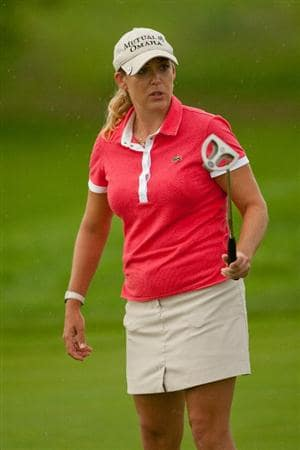 SPRINGFIELD, IL - JUNE 14: Cristie Kerr atches a putt during the continuation of the final round of the LPGA State Farm Classic at Panther Creek Country Club on June 14, 2010 in Springfield, Illinois. (Photo by Darren Carroll/Getty Images)