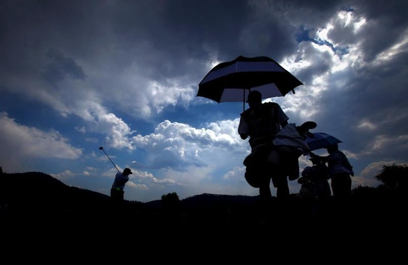 MORELIA, MEXICO- APRIL 23:  Meaghan Francella tees off the fourth hole during the first round of the 2009 Corona Championship, part of the LPGA Tour, on April 23, 2009 at the Tres Marias Golf Club in Morelia, Michoacan, Mexico. (Photo by Donald Miralle/Getty Images)