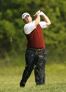 Jon Turcott plays his second shot on the ninth hole during the second round of the 2007 Athens Regional Foundation Classic Friday, April 20, 2007, at the Jennings Mill Country Club in Bogart, Georgia. Nationwide Tour - 2007 Athens Regional Foundation Classic - Second RoundPhoto by Kevin C.  Cox/WireImage.com