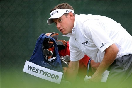 SAN DIEGO - JUNE 12:  Lee Westwood of England prepares to hit his tee shot off the tenth hole during the first round of the 108th U.S. Open at the Torrey Pines Golf Course (South Course) on June 12, 2008 in San Diego, California.  (Photo by Harry How/Getty Images)