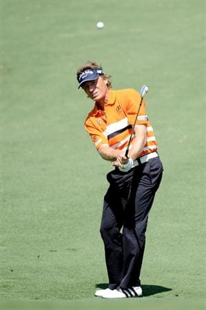 AUGUSTA, GA - APRIL 09:  Bernhard Langer of Germany plays a shot on the second hole during the second round of the 2010 Masters Tournament at Augusta National Golf Club on April 9, 2010 in Augusta, Georgia.  (Photo by Harry How/Getty Images)