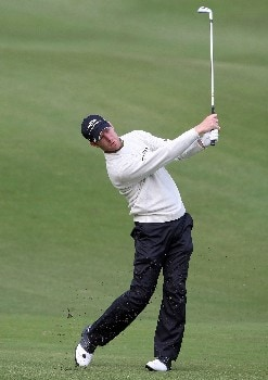 GOTENBA, JAPAN - NOVEMBER 09:  Chris Campbell of Australia makes an approach shot on the first hole during second round of the Sumitomo Visa Taiheiyo Masters at Taiheiyo Club on November 9, 2007 in Gotenba, Shizuoka Prefecture, Japan.  (Photo by Koichi Kamoshida/Getty Images)