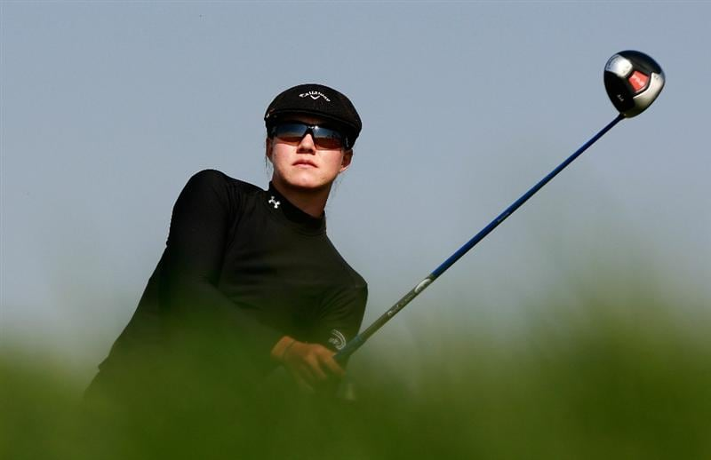 INCHEON, SOUTH KOREA - OCTOBER 30:  Vicky Hurst of United States hits a tee shot on the 6th hole during the 2010 LPGA Hana Bank Championship at Sky 72 Golf Club on October 30, 2010 in Incheon, South Korea.  (Photo by Chung Sung-Jun/Getty Images)