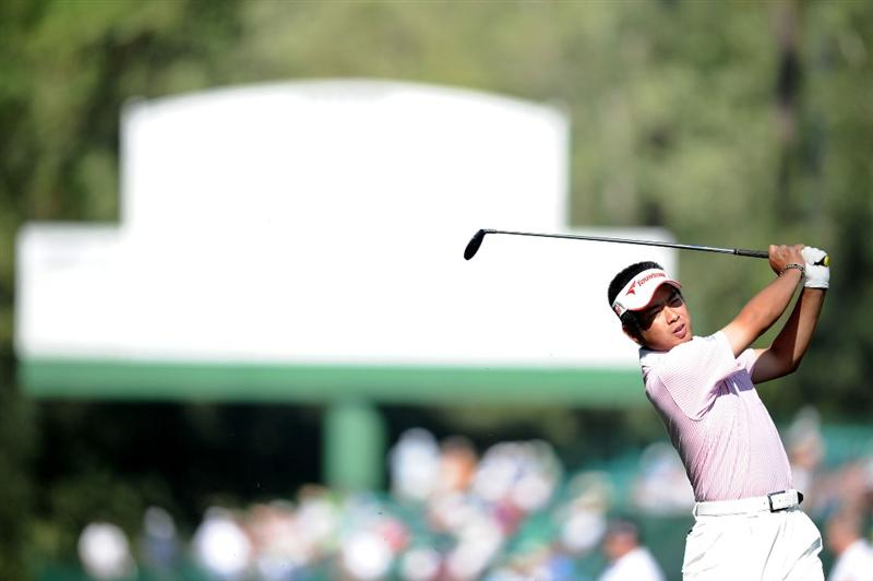 AUGUSTA, GA - APRIL 07:  Yuta Ikeda of Japan hits a shot during a practice round prior to the 2010 Masters Tournament at Augusta National Golf Club on April 7, 2010 in Augusta, Georgia.  (Photo by Harry How/Getty Images)