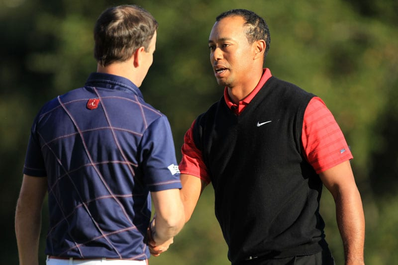Tiger Woods and Zach Johnson