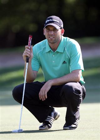 PALM HARBOR, FL - MARCH 17:  Sergio Garcia of Spain looks over a shot on the 9th hole during the first round of the Transitions Championship at Innisbrook Resort and Golf Club on March 17, 2011 in Palm Harbor, Florida.  (Photo by Sam Greenwood/Getty Images)