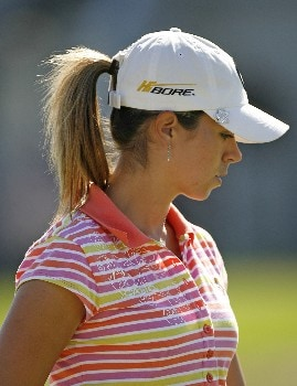 SPRINGFIELD, IL - SEPTEMBER 2:  Erica Blasberg walks to the 11th green during the final round of the State Farm Classic at Panther Creek Country Club on September 2, 2007 in Springfield, Illinois.  (Photo by Hunter Martin/Getty Images)