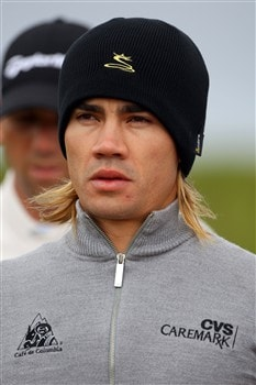 SOUTHPORT, UNITED KINGDOM - JULY 16:  Camilo Villegas of Colombia walks off the fourth tee during the third practice round of the 137th Open Championship on July 16, 2008 at Royal Birkdale Golf Club, Southport, England. (Photo by Andrew Redington/Getty Images)