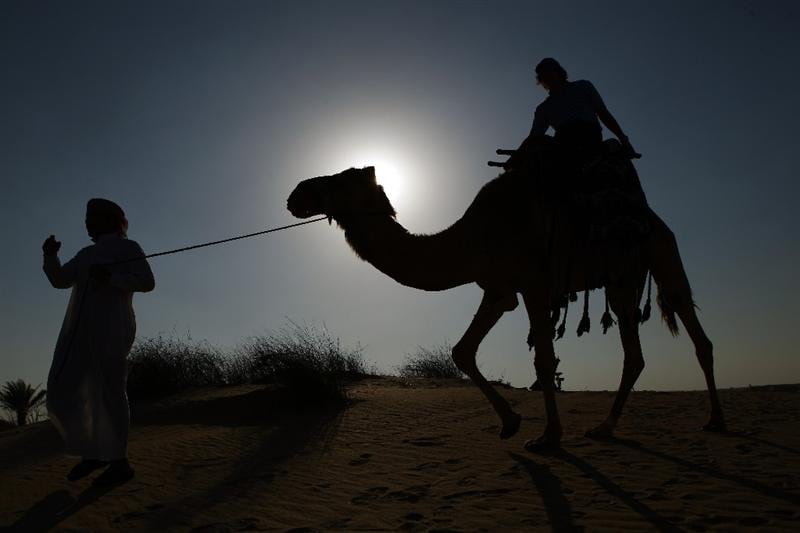 DUBAI, UNITED ARAB EMIRATES - JANUARY 28:  Golfer Rory McIlroy of Northern Ireland poses for photos during a visit to Bab Al Shams Hotel at Jumeirah Bab Al Shams Desert Resort & Spa on January 28, 2009 in Dubai, United Arab Emirates.  (Photo by Ian Walton/Getty Images)