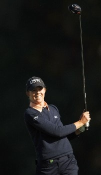 Jill McGill in action during the second round of the LPGA's 2005 Kraft Nabisco Championship, at Mission Hills Country Club in Rancho Mirage, California March 25, 2005.