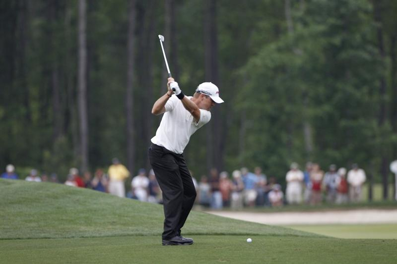 HUMBLE, TX - APRIL 03: Scott Verplank hits his second shot on the 11th hole during the final round of the Shell Houston Open at Redstone Golf Club on April 3, 2011 in Humble, Texas.  (Photo by Michael Cohen/Getty Images)