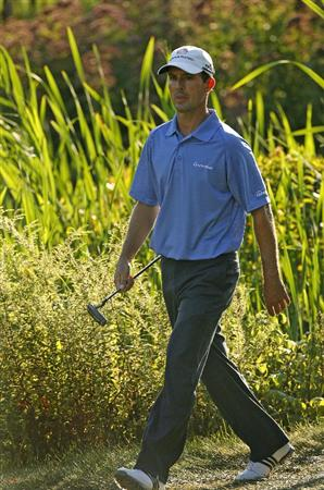 NORTON, MA - AUGUST 31: Mike Weir of Canada walks to the 18th green during the third round of the Deutsche Bank Championship at TPC Boston on August 31, 2008 in Norton, Massachusetts. (Photo by Hunter Martin/Getty Images)