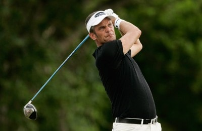 Jesper Parnevik hits his drive at the first tee box during the first round at the Sony Open in Hawaii held at Waialae Country Club on January 10, 2008 in Honolulu, Hawaii. PGA TOUR - 2008 Sony Open in Hawaii - First RoundPhoto by Stan Badz/PGA TOUR/WireImage.com