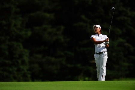 OTTAWA - AUGUST 15:  Seon Hwa Lee of South Korea makes an approach shot on the 13th hole during the second round of the CN Canadian Women's Open at the Ottawa Hunt and Golf Club on August 15, 2008 in Ottawa, Ontario, Canada.  (Photo by Robert Laberge/Getty Images)