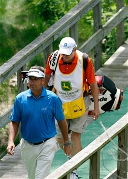 SILVIS, IL - JULY 11:  Kenny Perry walks to the fifth tee during the second round of the 2008 John Deere Classic at TPC at Deere Run on Friday, July 11, 2008 in Silvis, Illinois.  (Photo by Kevin C. Cox/Getty Images)
