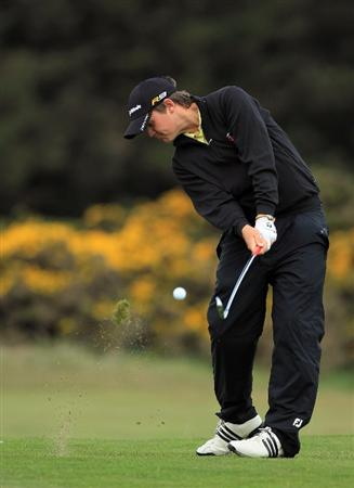 ABERDEEN, SCOTLAND - MAY 12:  Rhys Pugh of Wales during the 2011 Walker Cup Squad practice session at Royal Aberdeen Golf Club on May 12, 2011 in Aberdeen, Scotland.  (Photo by David Cannon/Getty Images)