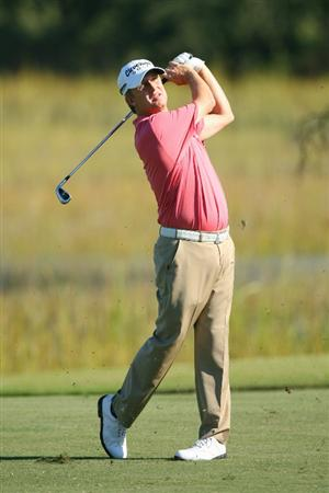 SEA ISLAND, GA - OCTOBER 8: David Toms hits his second shot on the eighth hole during the second round of the McGladrey Classic at Sea Island Resort's Seaside Course on October 8, 2010 in Sea Island, Georgia. (Photo by Hunter Martin/Getty Images)