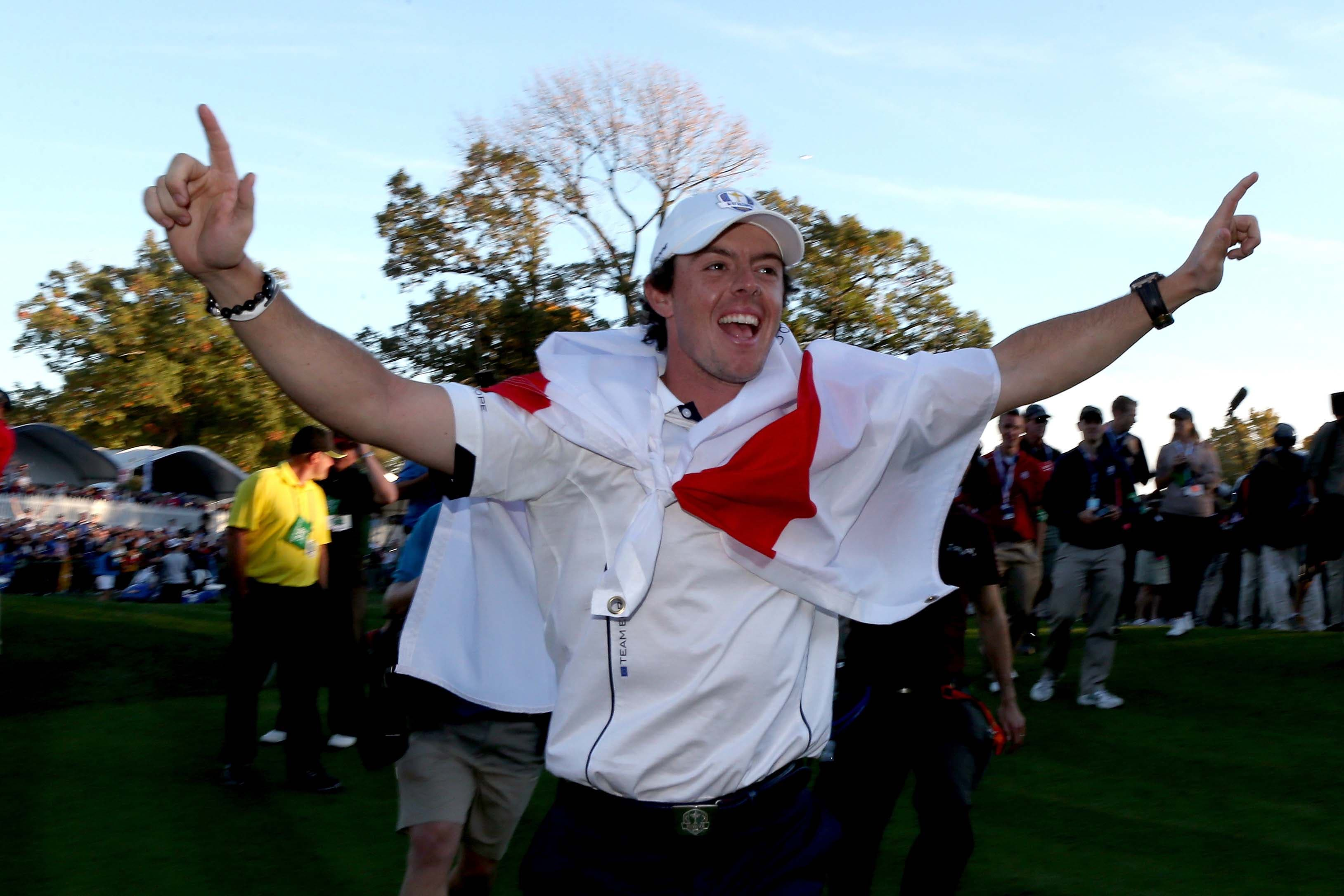 Rory McIlroy at the 2012 Ryder Cup