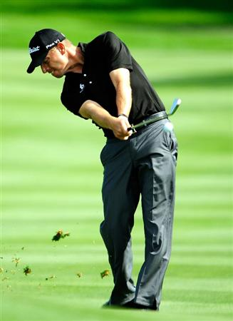 AKRON, OH - AUGUST 07:  Soren Hansen of Denmark plays a shot on the 6th hole during the second round of the WGC-Bridgestone Invitational on the South Course at Firestone Country Club on August 7, 2009 in Akron, Ohio.  (Photo by Sam Greenwood/Getty Images)