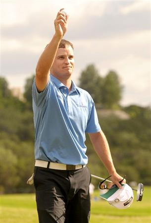 SAN ANTONIO TX - MAY 17: Zach Johnson wins the Valero Texas Open held at La Cantera Golf Club on May 17, 2009 in San Antonio, Texas.  (Photo by Marc Feldman/Getty Images)