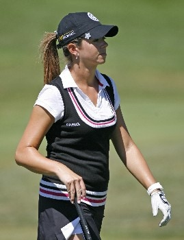 SPRINGFIELD, IL - SEPTEMBER 1: Erica Blasberg walks to the 18th green during the third round of the State Farm Classic at Panther Creek Country Club on September 1, 2007 in Springfield, Illinois. (Photo by Hunter Martin/Getty Images)