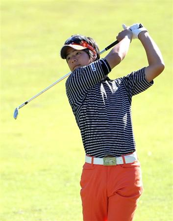 GOTENBA, JAPAN - NOVEMBER 13:  Ryo Ishikawa of Japan hits his approach shot on the 10th hole during the first round of Mitsui Sumitomo Visa Taiheiyo Masters at Taiheiyo Club on November 13, 2008 in Gotenba, Shizuoka, Japan.  (Photo by Koichi Kamoshida/Getty Images)