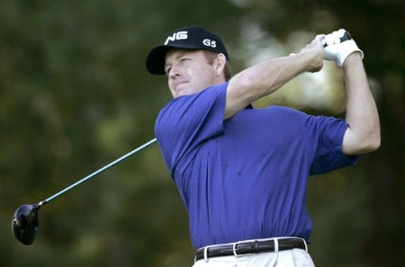 Jeff Maggert during the second round of the 2005 Deutsche Bank Championship at the TPC Boston in Norton, Massachusetts on Saturday, September 3, 2005.Photo by Sam Greenwood/WireImage.com