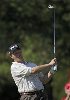 Ted Purdy in action during the first round of the TOUR Championship at East Lake Golf Club in Atlanta, Georgia on November 3, 2005.Photo by Sam Greenwood/WireImage.com