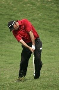 Tom Lehman during the third round of THE PLAYERS Championship held on THE PLAYERS Stadium Course at TPC Sawgrass in Ponte Vedra Beach, Florida, on May 12, 2007. Photo by Sam Greenwood/WireImage.com
