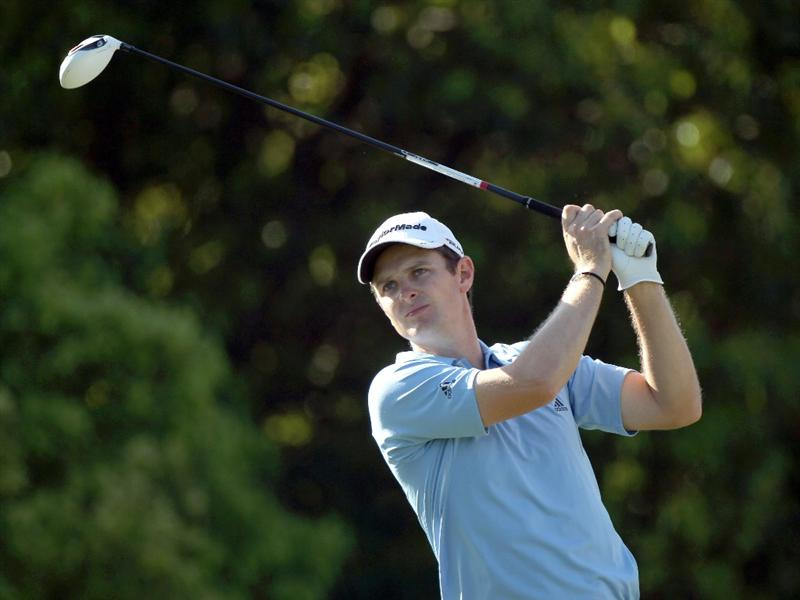 PALM HARBOR, FL - MARCH 18:  Justin Rose of England plays a shot on the 6th hole during the second round of the Transitions Championship at Innisbrook Resort and Golf Club on March 18, 2011 in Palm Harbor, Florida.  (Photo by Sam Greenwood/Getty Images)