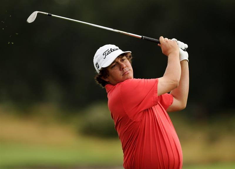 MELBOURNE, AUSTRALIA - NOVEMBER 13:  Jason Dufner of Australia plays an approach shot on the 12th hole during round two of the 2009 Australian Masters at Kingston Heath Golf Club on November 13, 2009 in Melbourne, Australia.  (Photo by Mark Dadswell/Getty Images)