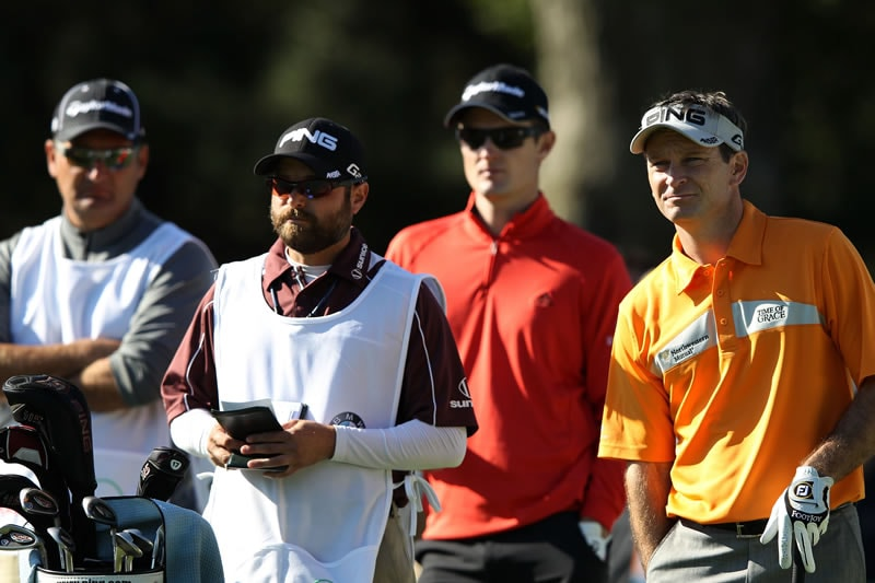 Mark Wilson and Justin Rose