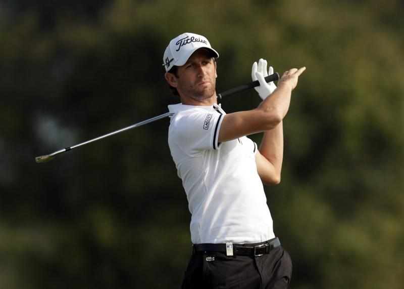 BARCELONA, SPAIN - MAY 05:  Gregory Bourdy of France during the first round the Open de Espana at the the Real Club de Golf El Prat on May 5 , 2011 in Barcelona, Spain.  (Photo by Ross Kinnaird/Getty Images)